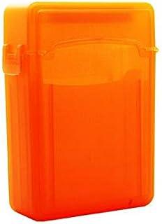 SmartLifeTime 2-Bay 2.5-inch IDE/SATA Hard Drive Semi-Transparent PP Protection Storage Box Dust-Proof Damp-Proof (Orange)
