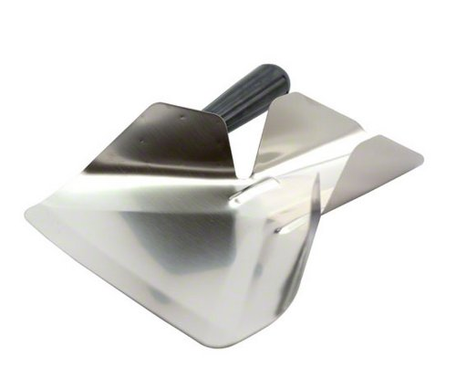 Tablecraft Stainless Steel French Fry Bagging Scoop, Right Handle | Commerical Quality for Restaurant Use
