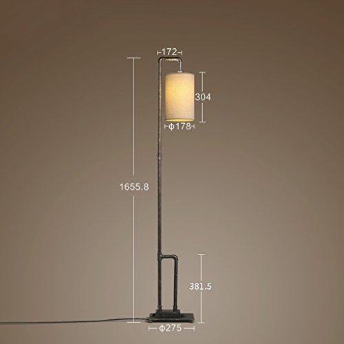XIN Home staande lamp, lezen in staan, creatieve industriële wind loft retro ijzer waterpijp staande lamp hoge voeten grote lamp slaapkamer studie werk leeslamp oogbescherming verticale tafellamp