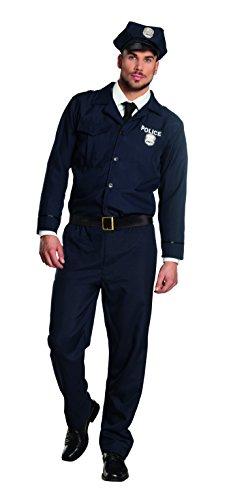 Boland- Poliziotto Costume Adulto, Blu, M (50/52), 83546