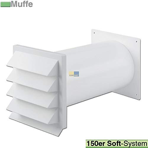 LUTH Premium Profi Parts muurdoorvoer 150erSCF wit voor 150er luchtgeleidingssystemen, bijvoorbeeld van afzuigkappen