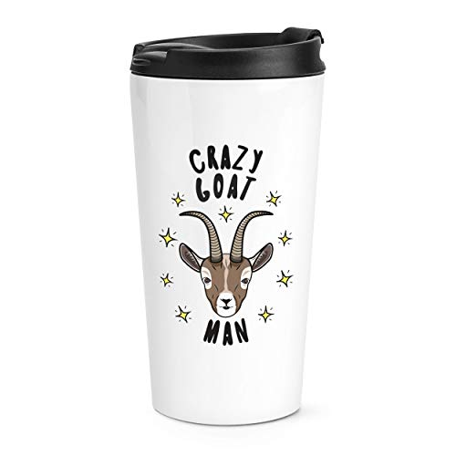 Crazy chèvre homme étoiles voyage tasse mug