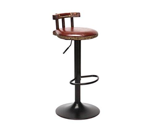 Tabouret en bois Bar tabouret bar européen télésiège rotatif tabouret de bar chaise en bois massif tabouret réception haute tabouret rétro chaise haute (Couleur : #3)