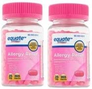 Allergy Relief Tablets Diphenhydramin HCl 25mg 365ct by Equate Compare to Benadryl Allergy Ultratab product image