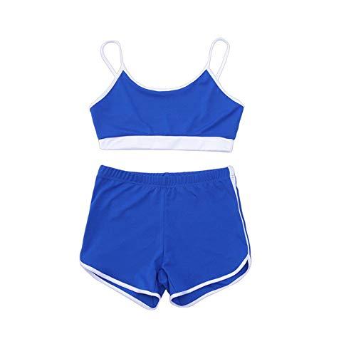 Handaxian Veste de Costume d'été décontractée pour Femmes 2 Ensembles de vêtements pour Femmes Fitness Sportswear 2 M
