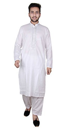 Para hombre Suave algodón kurta Salwar kameez partido pijama sherwani 820