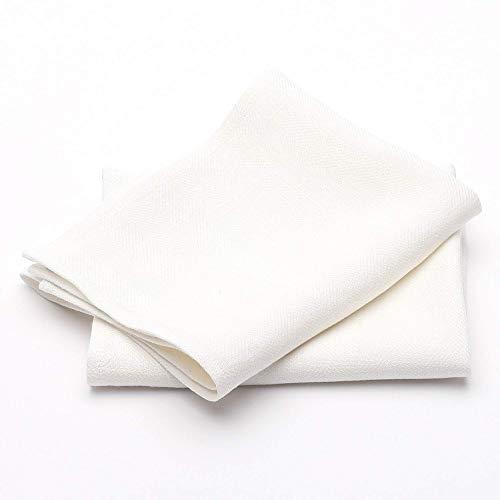 LinenMe Un Set di Due Asciugamani Lara in Lino Bianco 33x50cm, Realizzato in EU