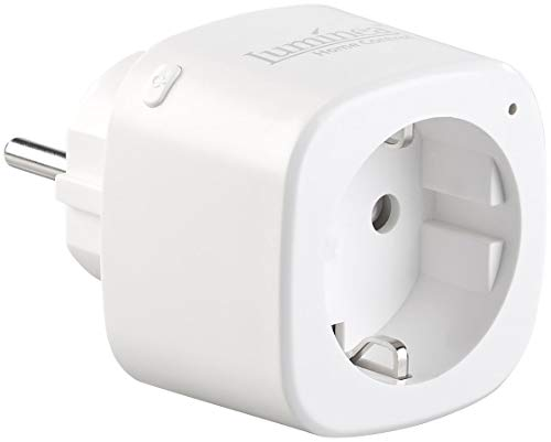 Luminea Home Control Smart Steckdose: WLAN-Steckdose mit App, 16 A, komp. zu Siri, Alexa & Google Assistan (Smarthome Steckdose)
