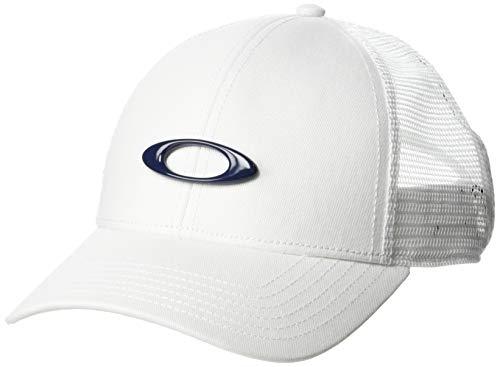 Oakley Men's 6 Panel Ellipse Trucker Hats,One Size,White