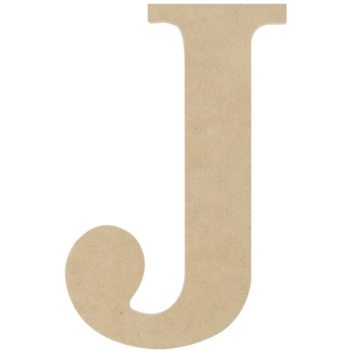 MPI MDF Classic Font Wood Letters and Numbers, 9.5-Inch, Letter J