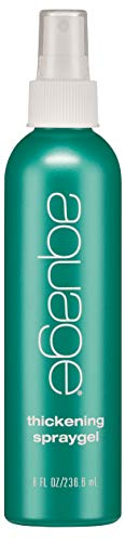 AQUAGE Thickening Spraygel, 8 Oz, Firm-Hold Styling Spray, Thickens and Strengthens Fine, Thin Hair, Utilizes Ultraflex Polymer Technology