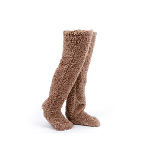 Urhomy 靴下 メンズ ルームソックス もこもこ ルームブーツ 暖かい 冬用 ルームシューズ 暖かい 足が出せるロングカバー 男女兼用 ぽかぽか 一人用 省エネ 31*22.4*12.4cm