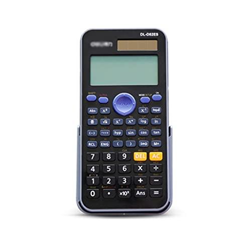 calculadoras Ingeniería Calculadora Científica 252 Funciones 2 Línea Pantalla LCD Calculadora Multifuncional Estudiantes Y Profesores Calculadoras Básicas (Color : B)