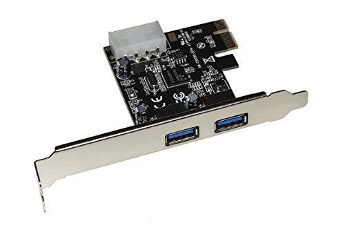 Nilox Scheda di rete PCI Express, 2xUSB3.0, 5Gbps, Staffa Normale e Low Profile