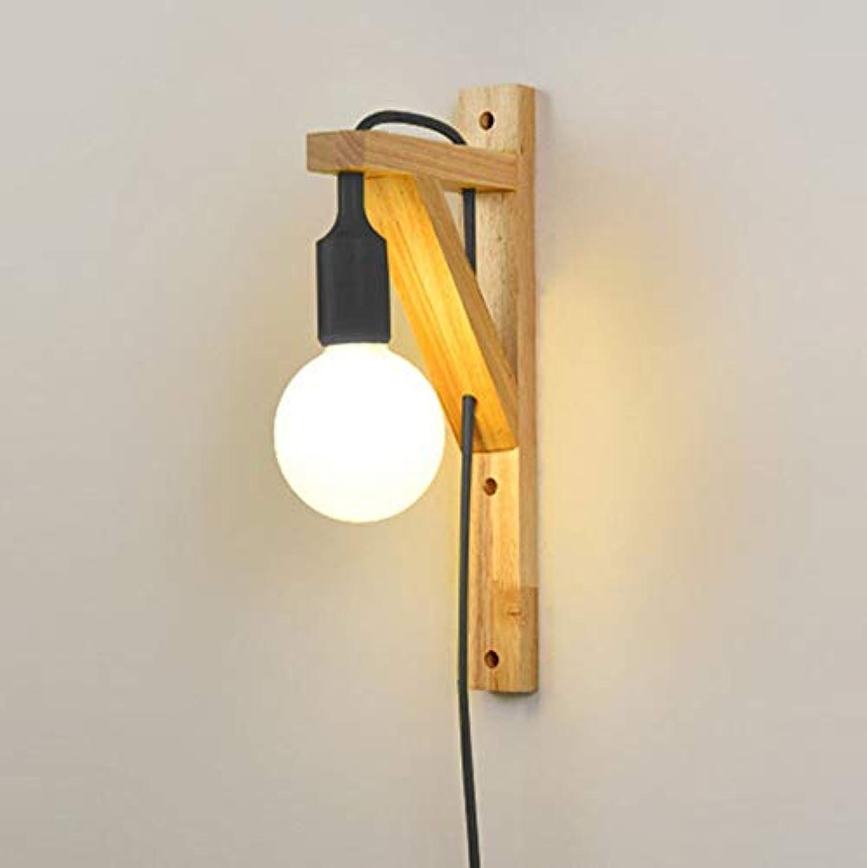 Xiao Yun    led massivholz Wohnzimmer Nacht Studie Gang treppen Flur Einfache Mit stecker E27  1 (Farbe  Schwarz)