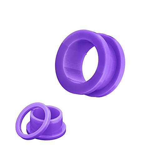 Ear expander 10Pcs/lot Fake Cheater Acrylic Ear Plugs And Tunnels Ear Expander Stretchers Kit Ear Tragus Piercing Set Body Jewelry 9 Sizes accessories ( Main Stone Color : 3mm , Metal color : Purple )