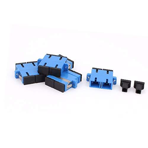 X-DREE 5 pcs SM SC-SC UPC acopladores de fibra dúplex adaptadores de brida Conectores de fibra óptica azul (486892549129a926e7721bc84b8c3f4f)