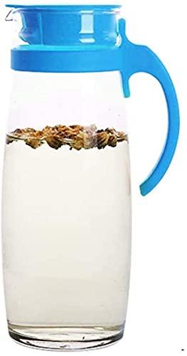 n.g. Wohnzimmerzubehör Teekannen Tasse Glas Wasserkocher Hausfrau Kaltwasserkocher Wasserkocher Großes Wasserglas Tassenset 166L Hitzebeständig (Größe : Orange) 1706 (Größe : Blau)