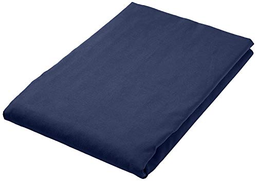 Amazon Basics Towels, Mikrofaser, Schwarz/Blau, 180 x 90 cm