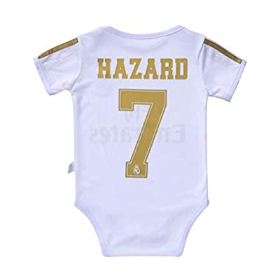 Babyjs Real Madrid 7 Hazard Bodysuit Soccer Fan Baby Creepers & Rompers Jumpsuit Onesie 0-9 & 9-18 Monthes Infant Toddler Suit