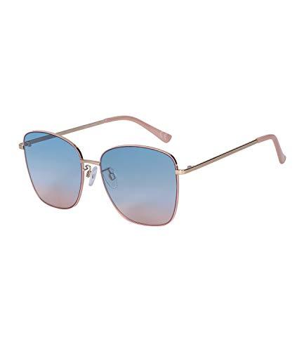 SIX Ausgefallene Sonnenbrille mit coolem Farbverlauf und goldglänzenden Metallbügeln (326-315)