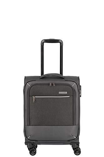 """Travelite Reisegepäck-Serie """"ARONA"""" attraktive Trolleys und Bordtaschen in 3 Farben Koffer, 55 cm, 33 L, Anthrazit"""