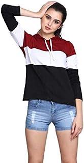 RaGoHo Womens Hoodie Full Sleeves Cotton Blend T-Shirt