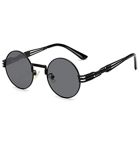 Cutelife Damenmode Sportbrillen Runder Rahmen Sonnenbrillen Klassische Metall Modebrillen Retro-Sonnenbrille Outdoorbrillen DG-16 (H)