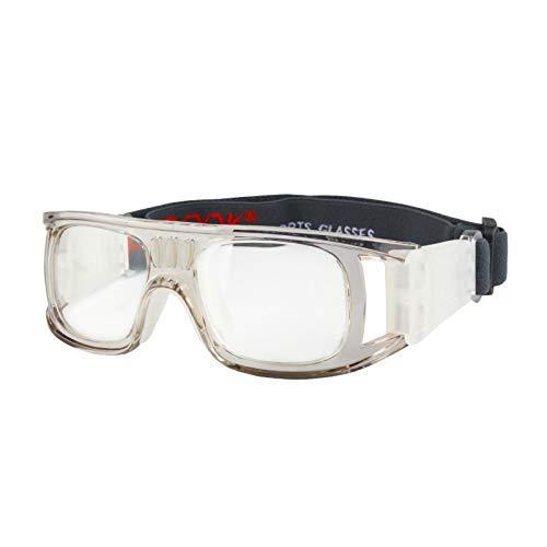 Andux Pallacanestro Calcio Calcio Sport Occhiali protettivi Occhiali degli Occhi Occhiali di Sicurezza LQYJ-01 (Grigio)