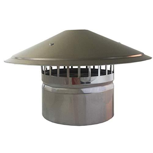 Tapa Protectora para Lluvia y Nieve, Parte Superior Antideslizante para pájaros, Adecuada para Todos los Tipos de Combustible, Olla Protectora para Lluvia y Nieve, Protector de Humos, 160 mm