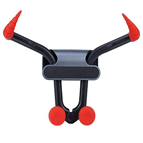 E8E8 Soporte de teléfono móvil para coche, con forma de cabeza de toro con ganchos tipo gancho, universal, adecuado para iPhone y Android