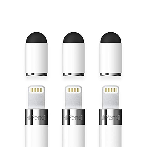 FRTMA [2 in 1] Replacement Cap Compatible with Pencil/Used as Stylus for All Touch Screen Tablets/Cell Phones (Pack of 3), White