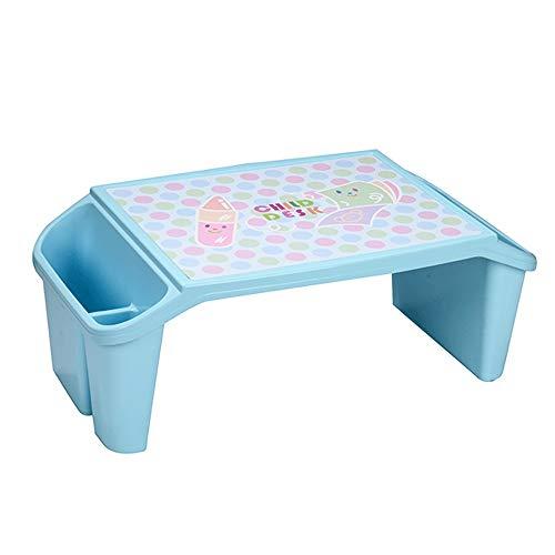 YYQIANG Mesa de escritorio de plástico para niños, para lectura y escritura, color azul