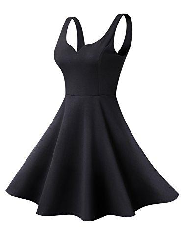 Missufe-Womens-Sleeveless-Sweetheart-Flared-Mini-Dress