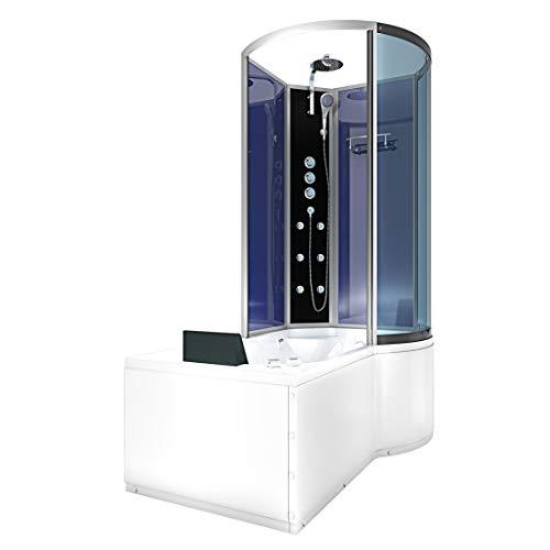 AcquaVapore DTP8050-A006L Whirlpool Wanne Duschtempel Dusche Duschkabine 170x98 2K Scheiben Versiegelung
