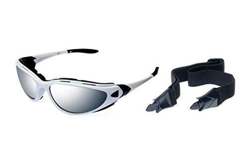 Alpland Sportbrille Schutzbrille Radbrille Kitebrille Surfbrille inkl. Band, Bügel.Softbag