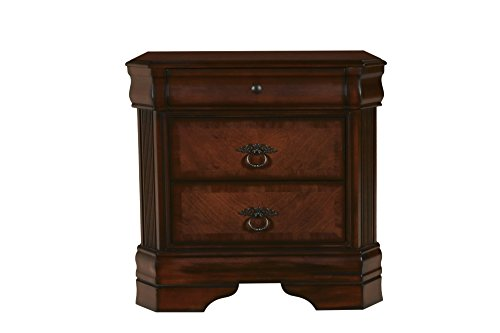 New Classic Furniture Sheridan Nightstand, Burnished Cherry
