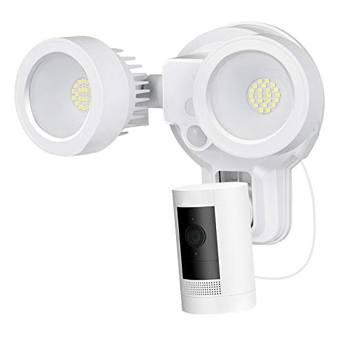 Wasserstein 3-in-1 Floodlight, Charger and Mount Compatible with Ring Stick Up Cam Battery & Ring Spotlight Cam Battery - Turn Your Camera into a Powerful Floodlight (White) (Ring Camera NOT INCLUDED)
