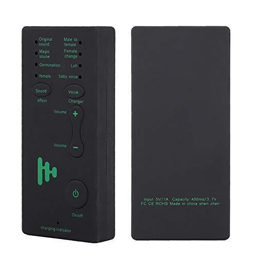 Mini scheda audio portatile live Cambia voce Scheda audio live broadcast per PC cellulare, 4 effetti sonori e 4 cambi di voce Amplificatore scheda audio, regalo di compleanno per mixer DJ