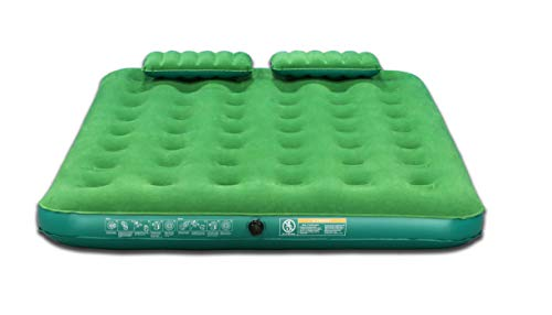 Aria Queen Air Mattress Flocked Top Airbed with 4D Battery...