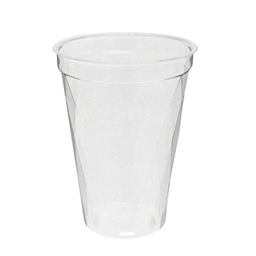 旭化成パックス (キラキラ)透明プラカップ 50個入り 12オンス(満杯容量370ML 推奨容量270ML)CIP-378D 口径8.3cm