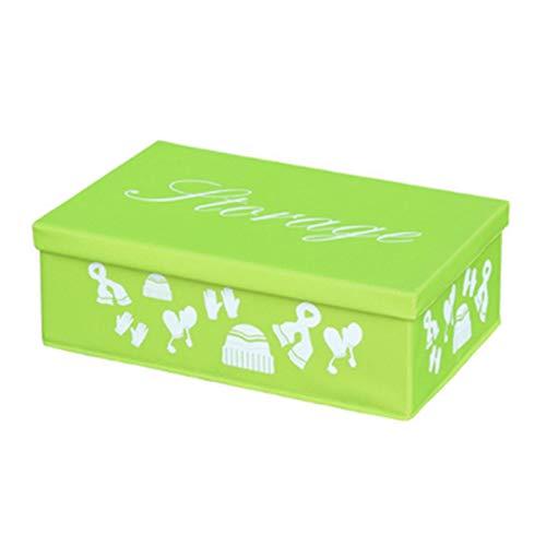 Aitaolian HOMEsn Canasta De Almacenamiento Grande Caja De Almacenamiento Cubo De Cubo Caja De Lona Plegable Organizador Plegador para El Hogar Closet Toys Ropa (Size : Large)