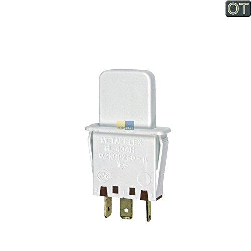 Tastenschalter Lichtschalter einfach Lampenschaltelement Drucktastenschalter Schaltelement Kühlschrank Kühlautomat Kühlgerät Original Bosch Siemens 607217 00607217 3kib 3fib 3kfe
