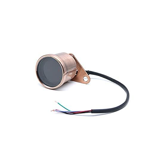 ZMMWDE Velocímetro Digital Universal para Motocicleta, odómetro LCD Retro, indicador de tacómetro Cafe Racer, medidor de ATV para Scooter