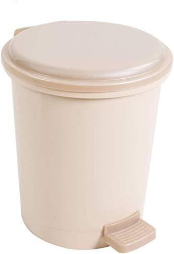 Trash Can Art und Weise kreatives Pedal Trash Kunststoff Trash Can Lid Wohnzimmer Küche Badezimmer Trash Can Speicher Barrels (Größe: 21.5X29Cm)