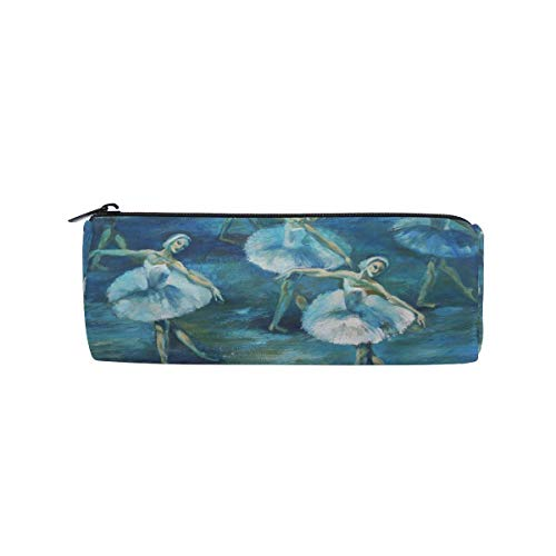Pencil Bag Ballet Dancer Painting, Pencil Case Pen Zipper Bag Pouch Holder Makeup Brush Bag for School Work Office