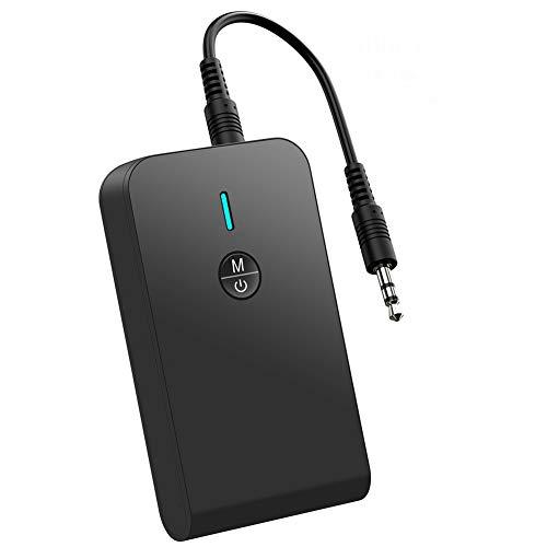 Trasmettitore Bluetooth per TV Ricevitore Bluetooth Aux 2 in 1 Bluetooth 5.0 Adattatore Bluetooth Per PC Audio 3,5mm per Cuffie Altoparlanti Tablet Stereo MP3 MP4