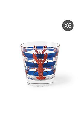 Excelsa Boston - Juego de 6 vasos de agua, vidrio soplado
