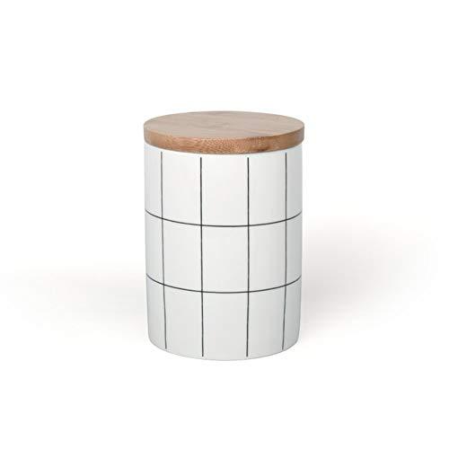 Tarros cocina Diseño moderno frasco de almacenamiento de alimentos con hermético tapa de madera, de cerámica de almacenamiento de alimentos del frasco, tarro de almacenamiento de alimentos for el café