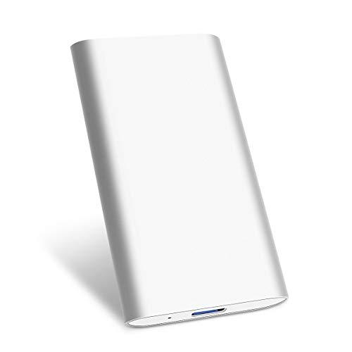 Hard Disk Esterno 1tb Type C USB3.1 Hard Disk Esterno per PC, Mac, Desktop, Laptop, MacBook, Chromebook (1tb, Argento)